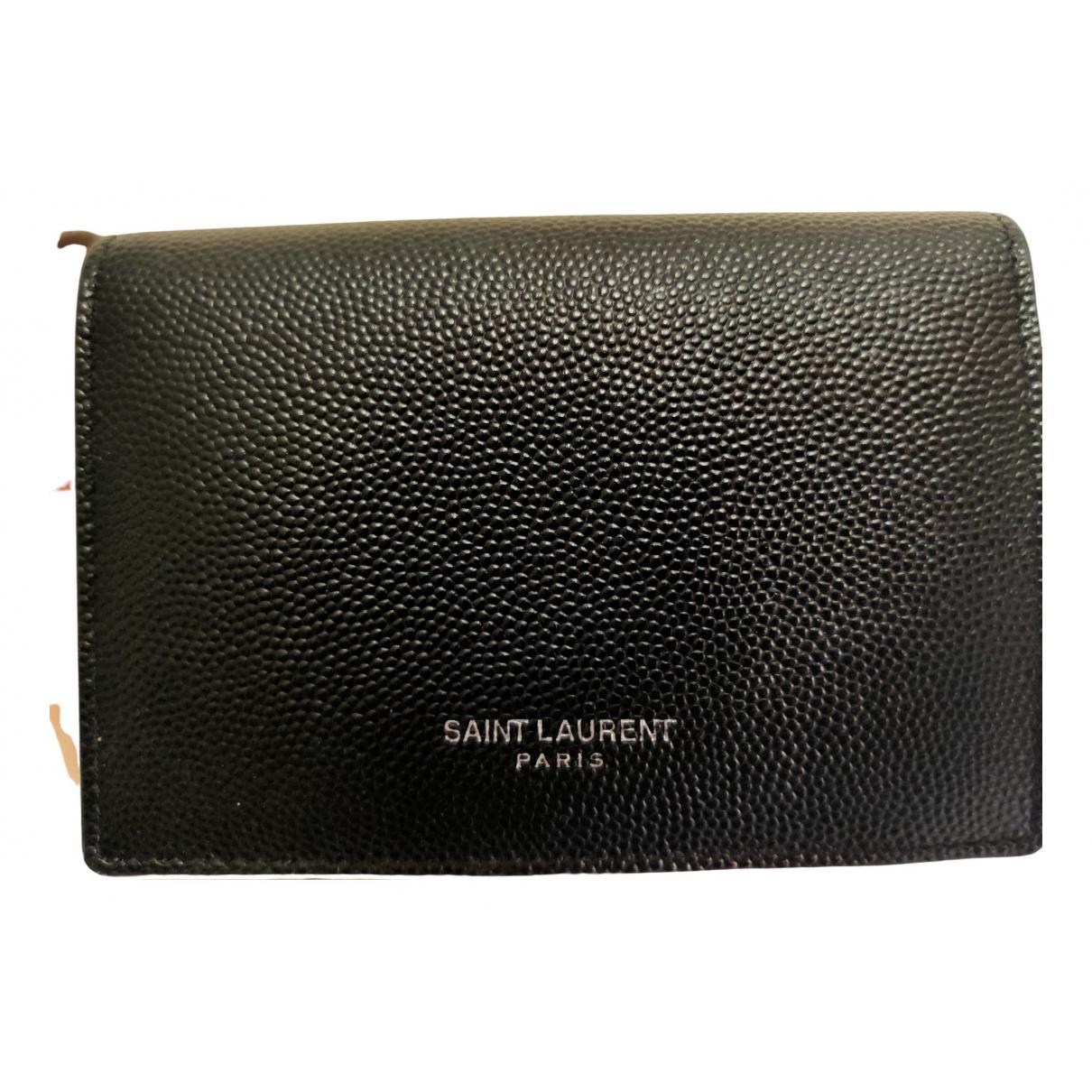 Saint Laurent \N Kleinlederwaren in  Schwarz Leder