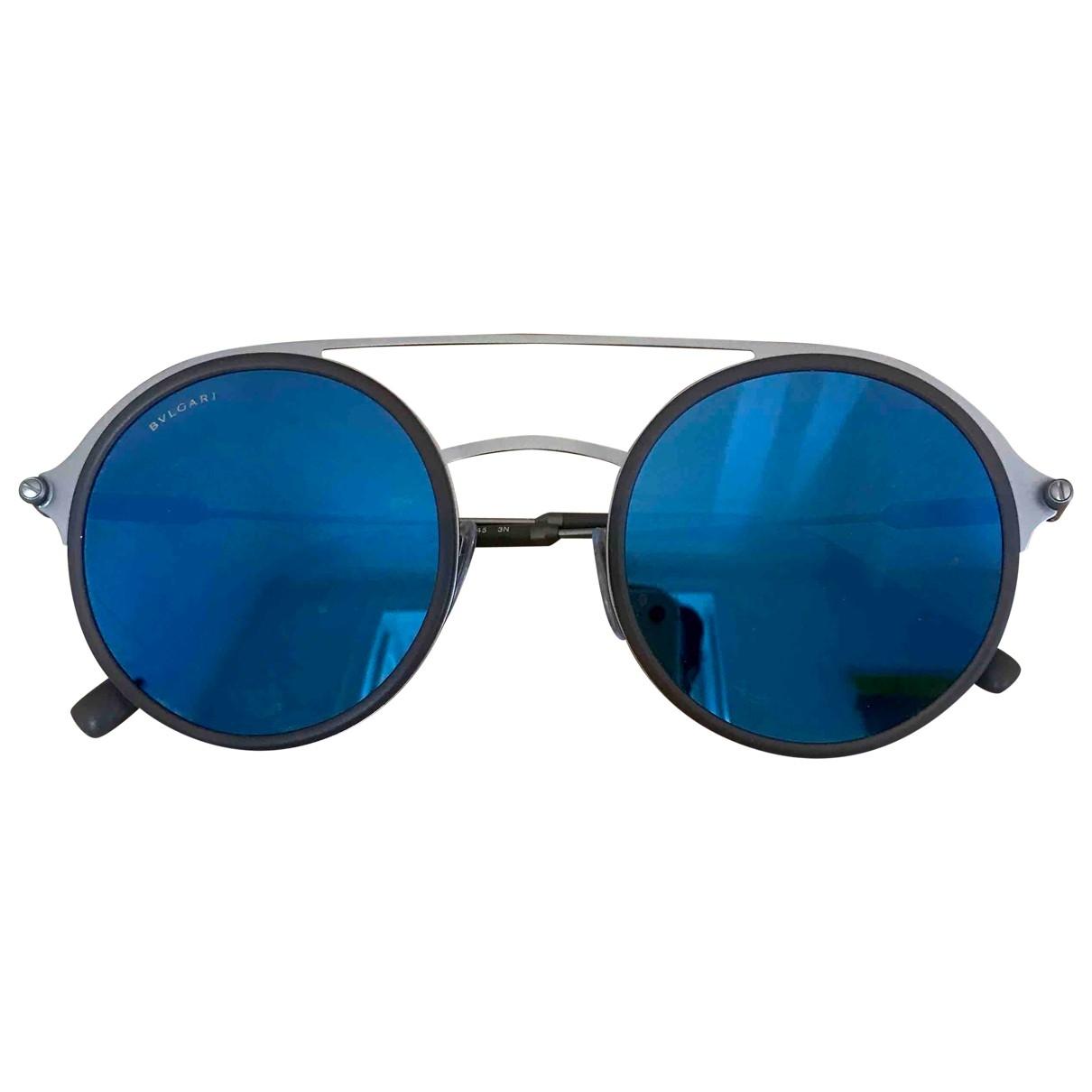 Bvlgari \N Grey Metal Sunglasses for Men \N