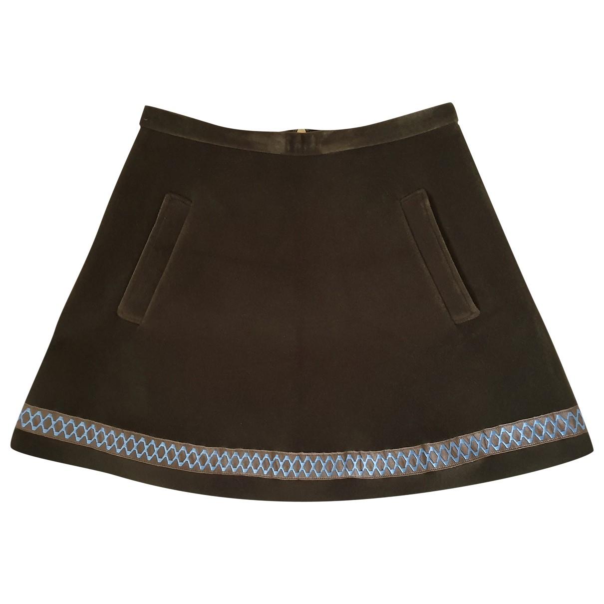 Hilfiger Collection \N Green Velvet skirt for Women 6 US