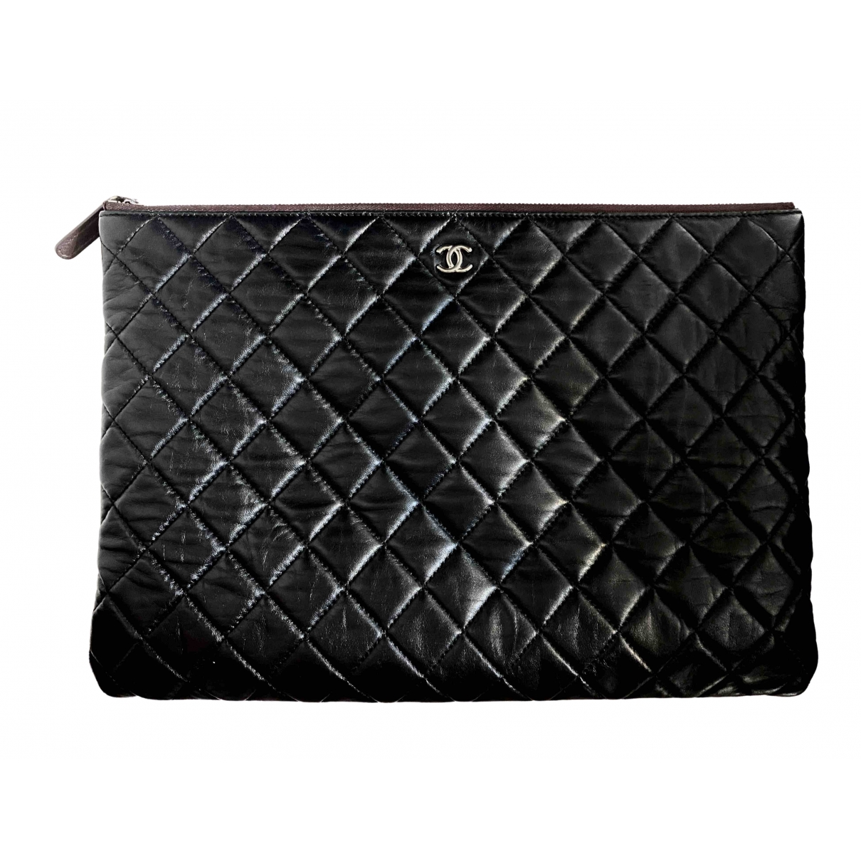 Chanel Timeless/Classique Black Leather Clutch bag for Women N