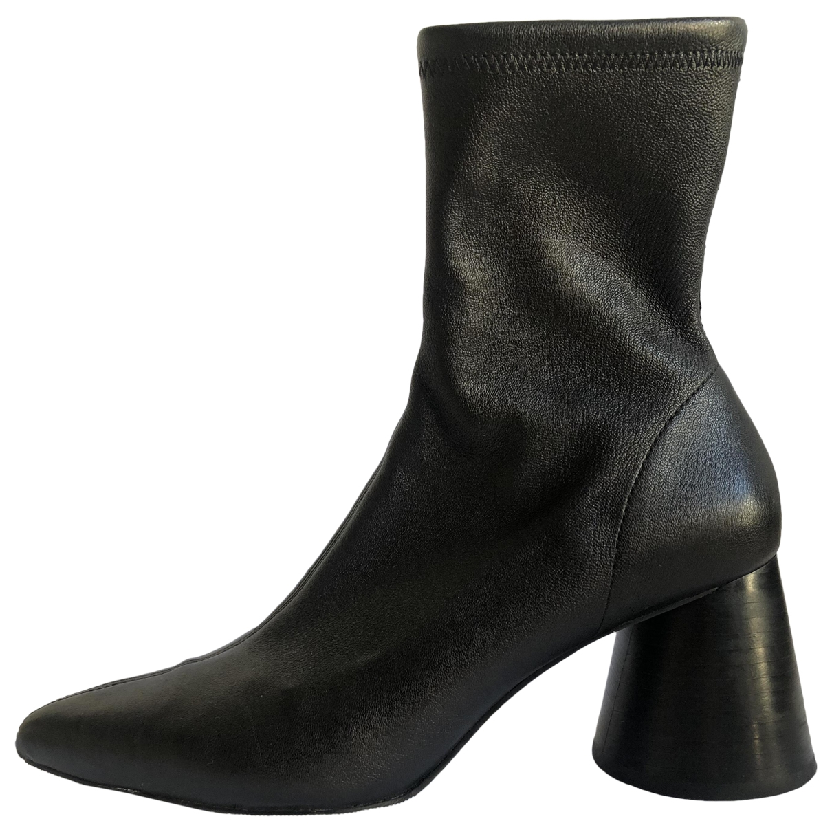& Other Stories - Boots   pour femme en cuir - noir