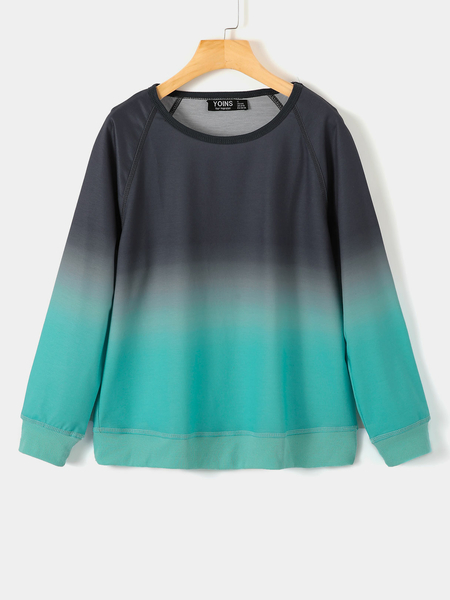 Yoins Fantasy Colour Round Neck Long Sleeves Sweatshirt