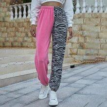 Jogginghose mit Zebra Streifen