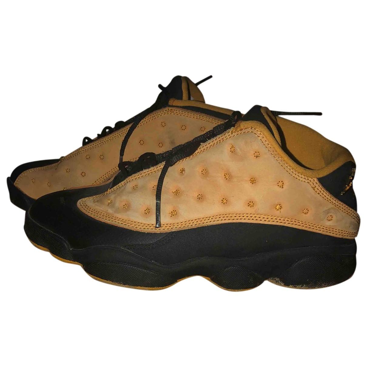 Jordan - Baskets Air Jordan 13 pour homme en suede - beige