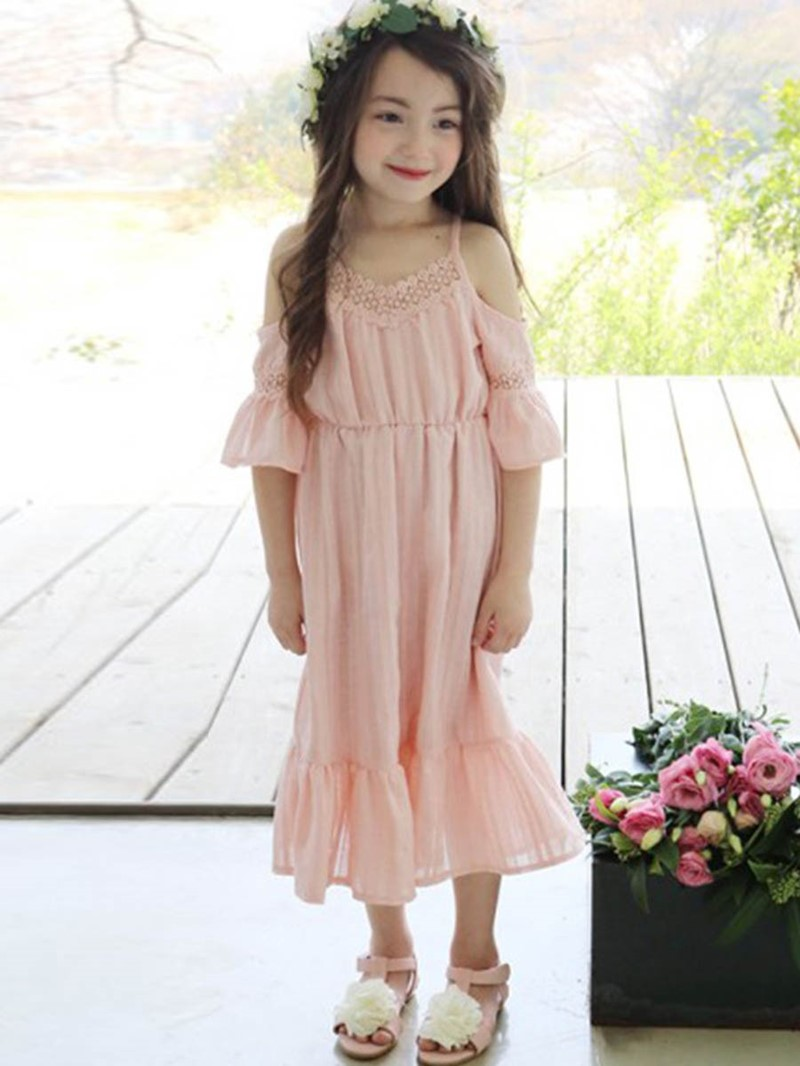 Ericdress Spaghetti Strap Hollow Princess Sleeve Dress