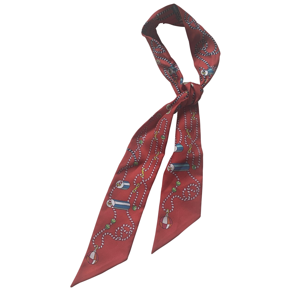 Hermès Twilly 86 Red Silk scarf for Women \N