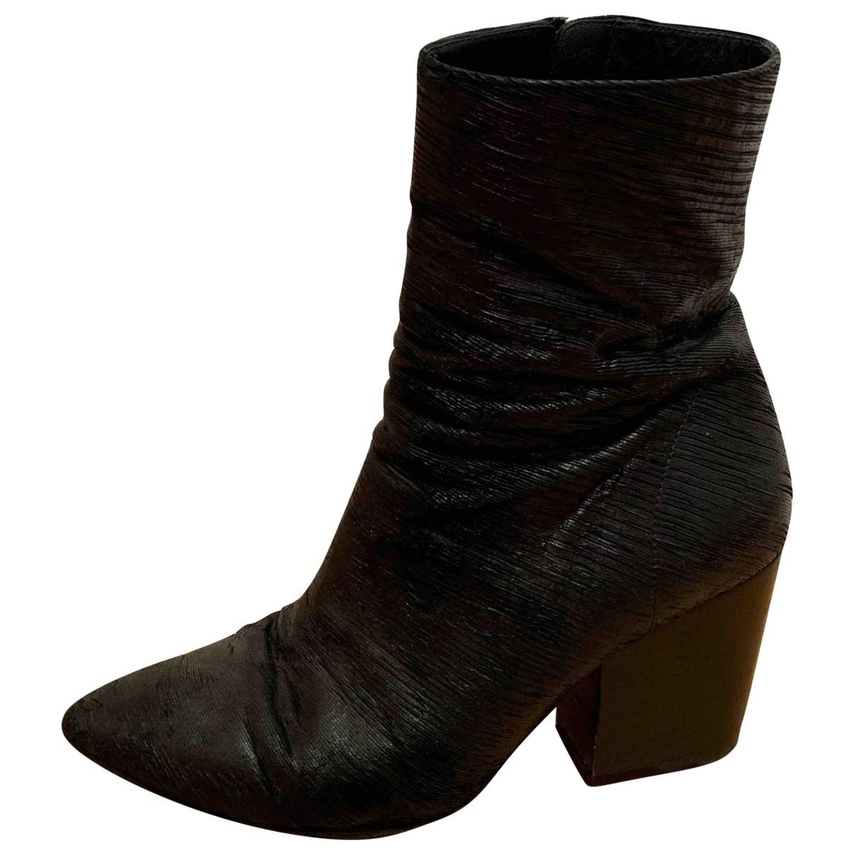 Iro - Bottes   pour femme en cuir - noir