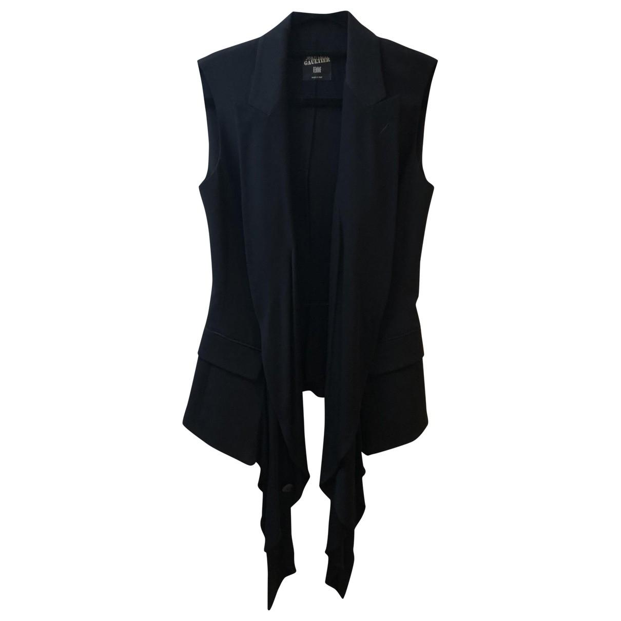Jean Paul Gaultier \N Jacke in  Schwarz Baumwolle