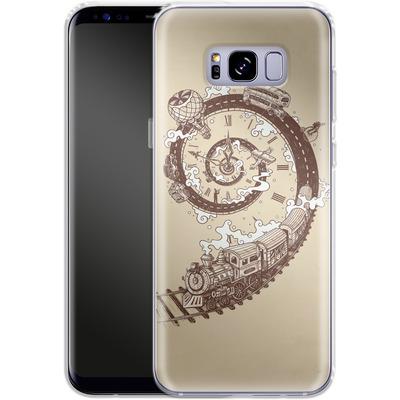 Samsung Galaxy S8 Plus Silikon Handyhuelle - Time Travel von Enkel Dika