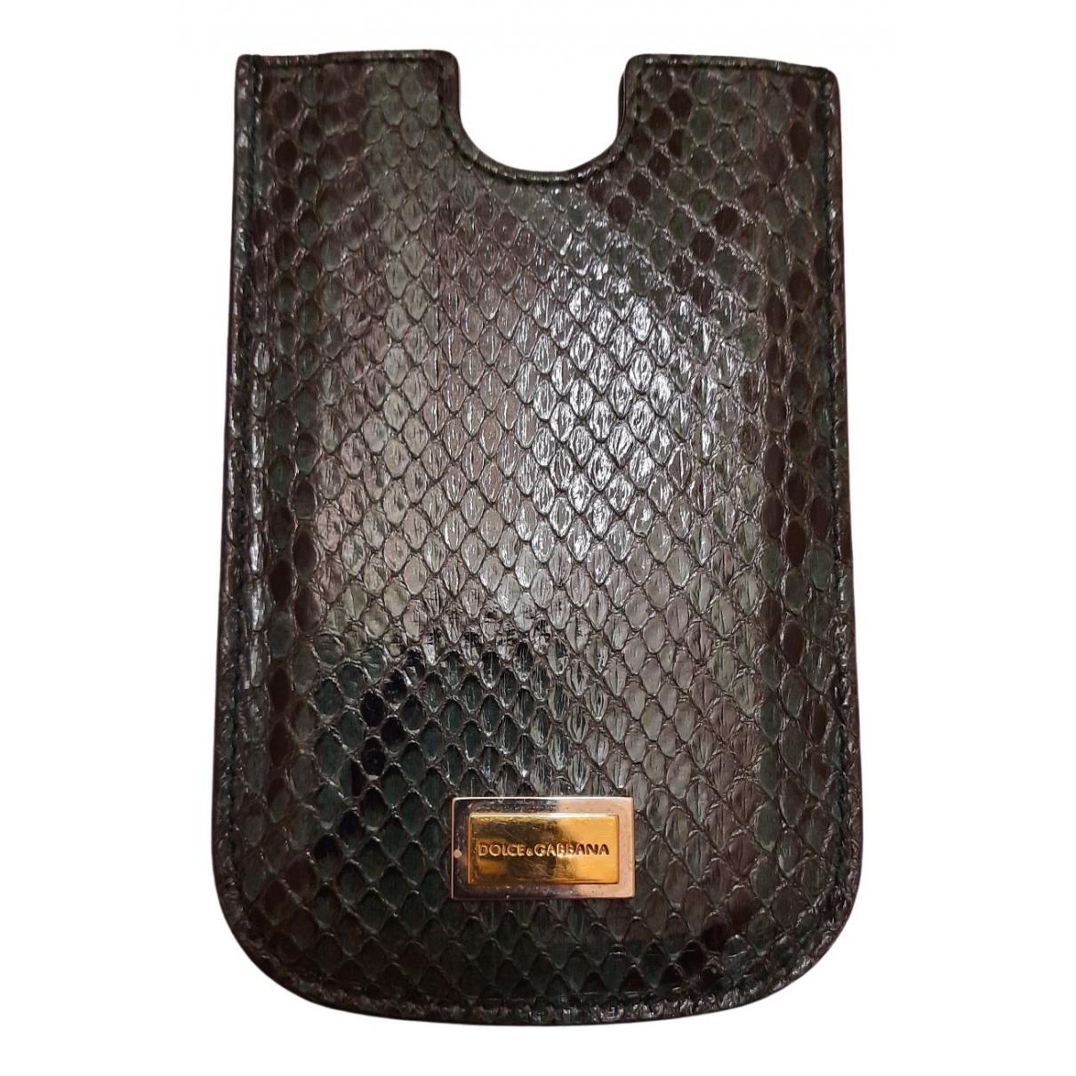 Dolce & Gabbana - Accessoires   pour lifestyle en serpent deau - noir