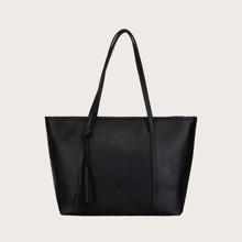 Tassel Decor Tote Bag