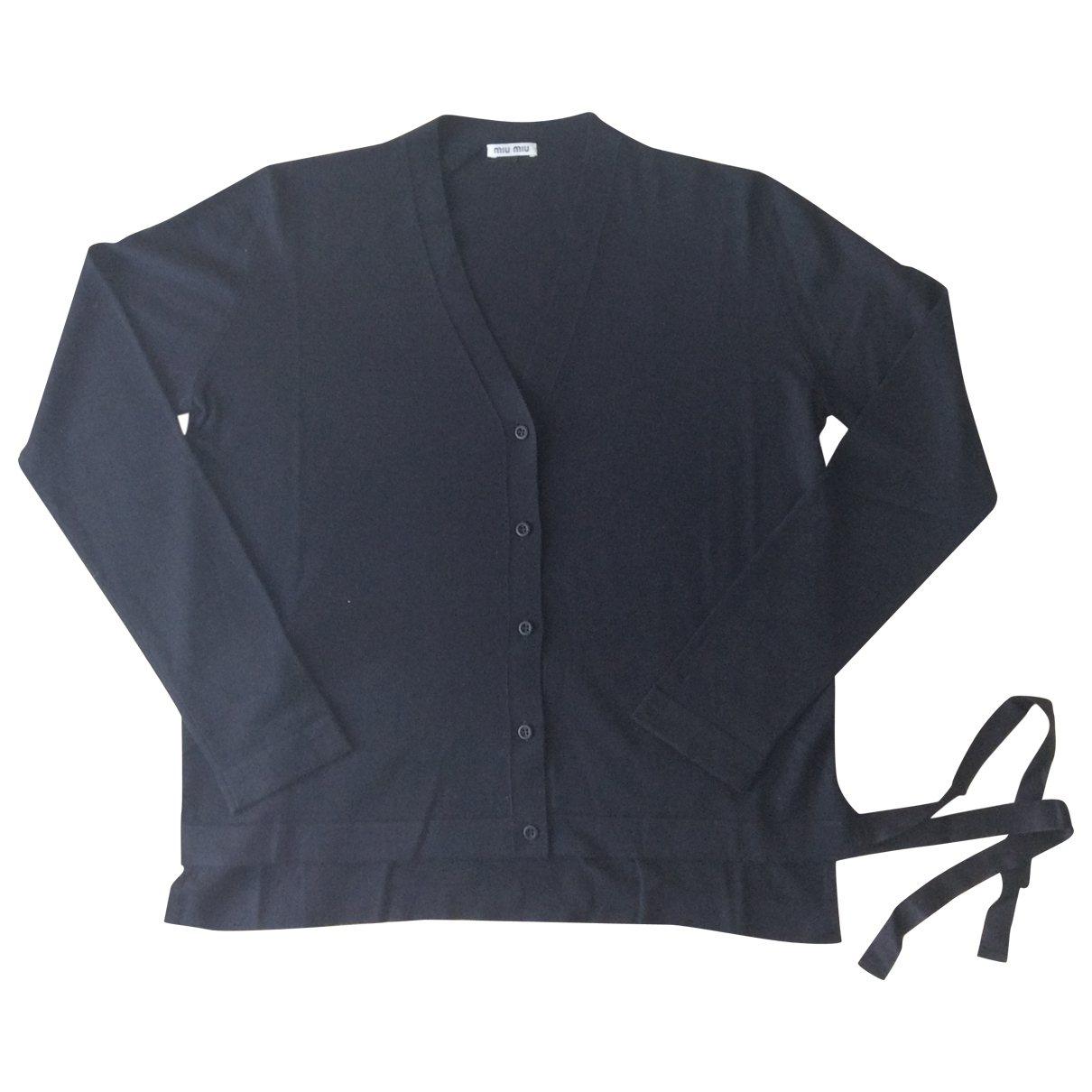 Miu Miu \N Pullover in  Schwarz Wolle