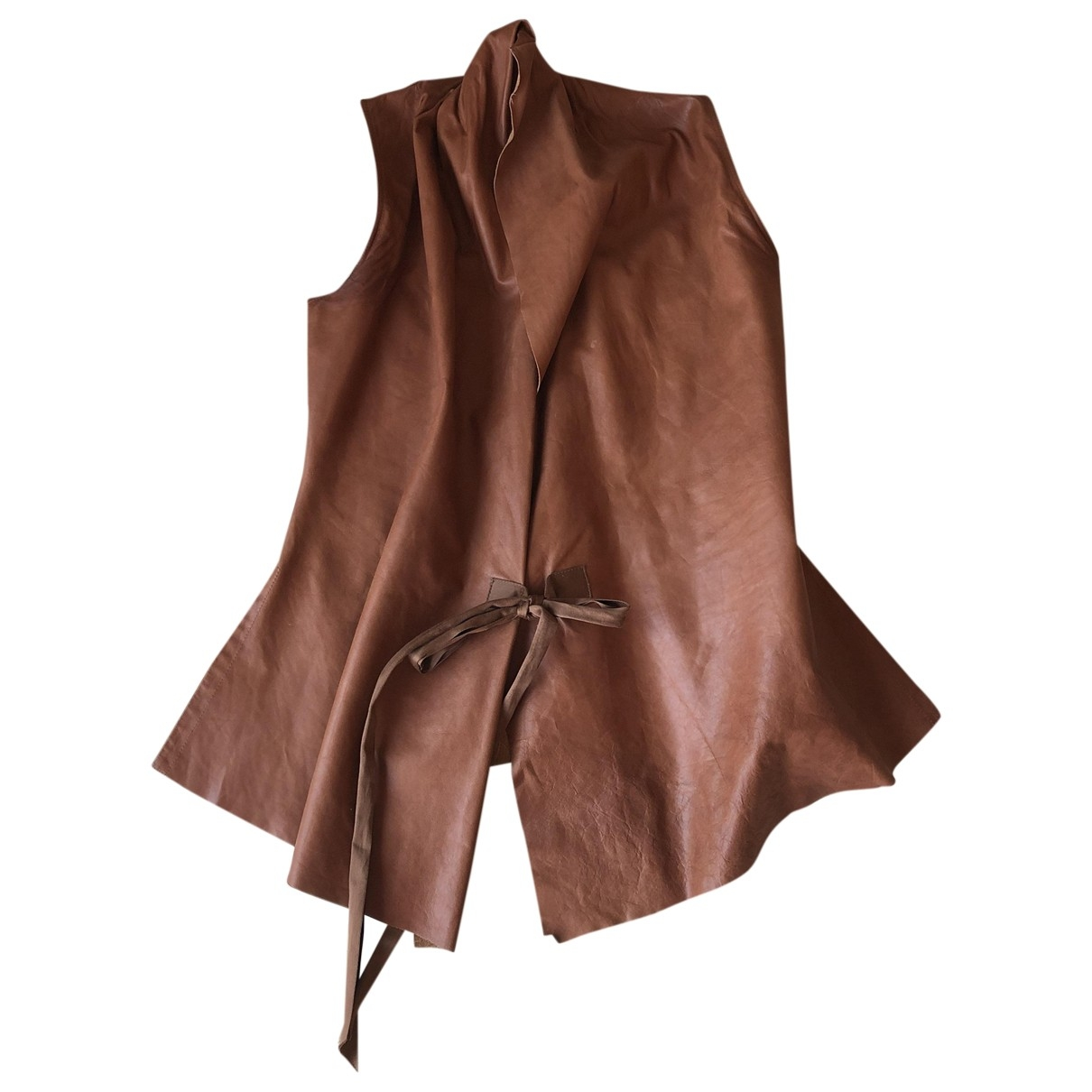 Rick Owens \N Brown Leather  top for Women 38 IT