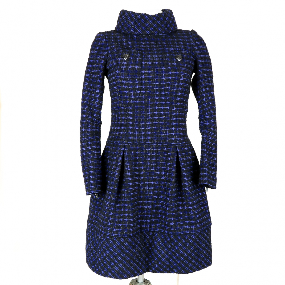 Chanel \N Blue Wool dress for Women 34 FR
