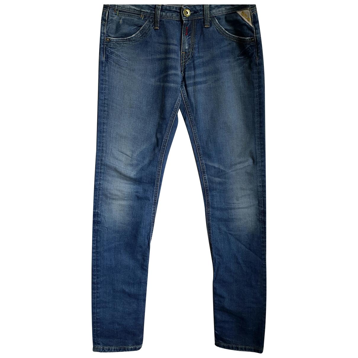 Replay \N Blue Denim - Jeans Trousers for Women 40 IT