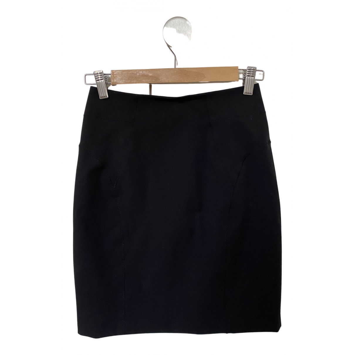 T By Alexander Wang N Black Cotton - elasthane skirt for Women 2 US