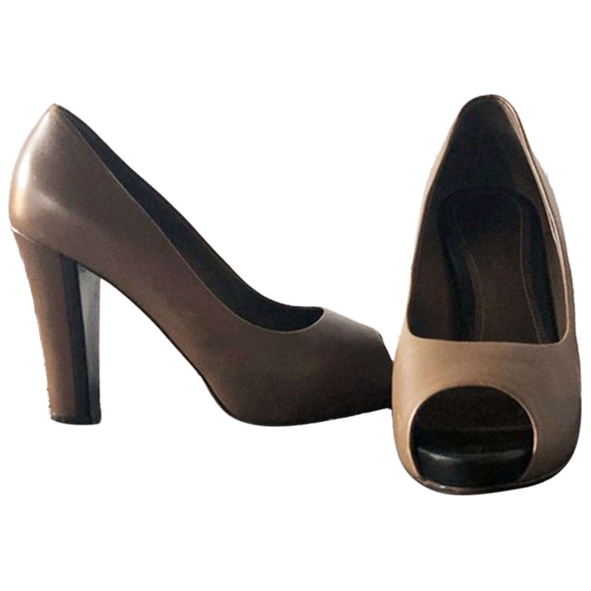 Loro Piana \N Brown Leather Heels for Women 39 EU