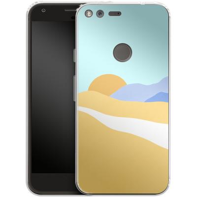 Google Pixel Silikon Handyhuelle - Sunset Beach von Lucy Bohr