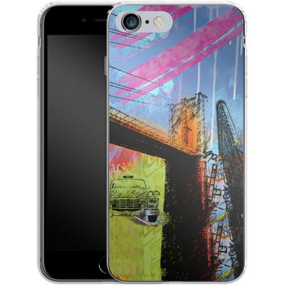 Apple iPhone 6 Plus Silikon Handyhuelle - Pop Brooklyn Bridge von Mark Ashkenazi