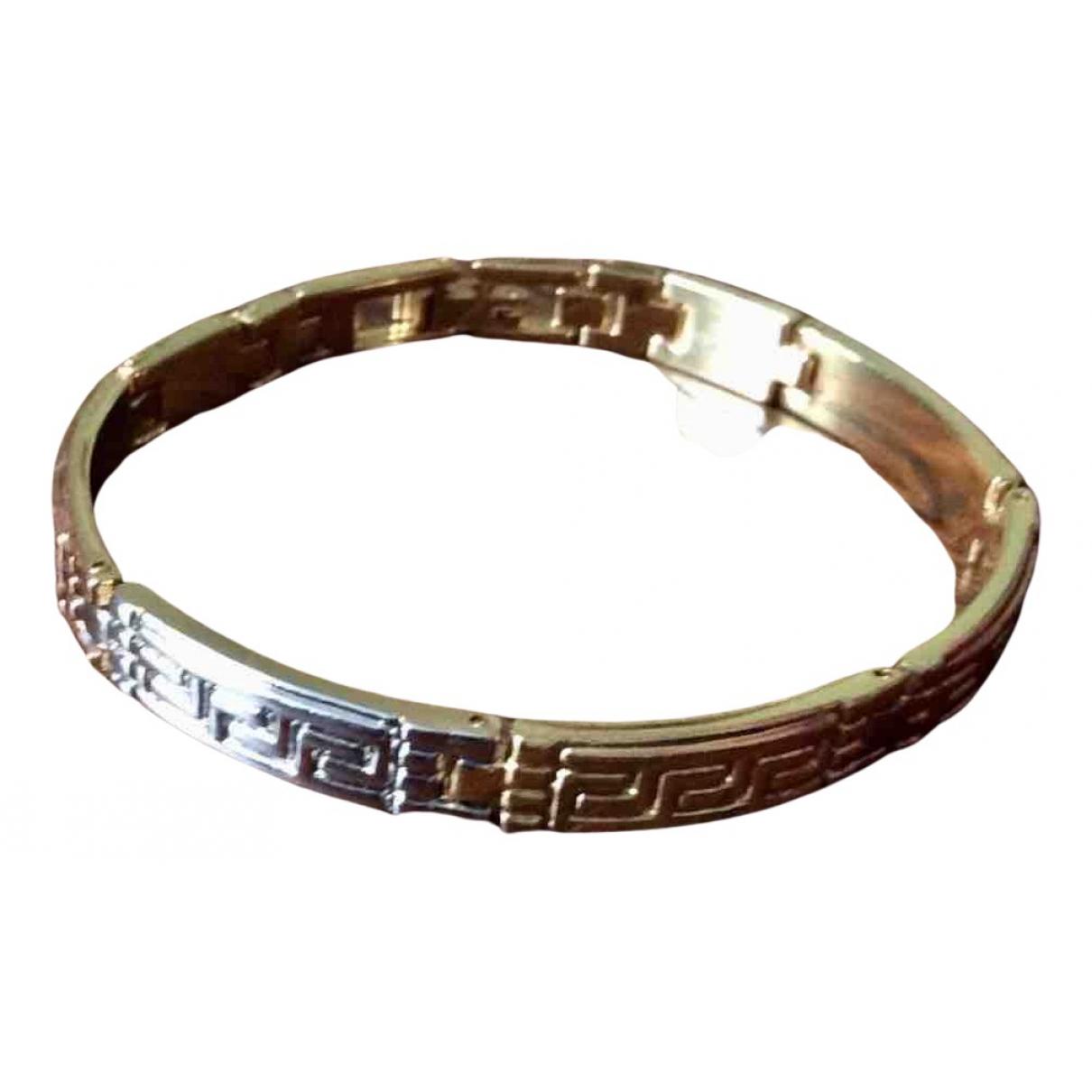 Non Signe / Unsigned Art Deco Armband in  Gold Vergoldet