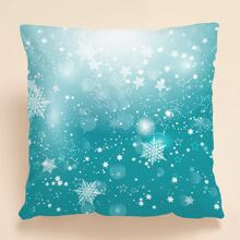 Christmas Snowflake Print Cushion Cover Without Filler