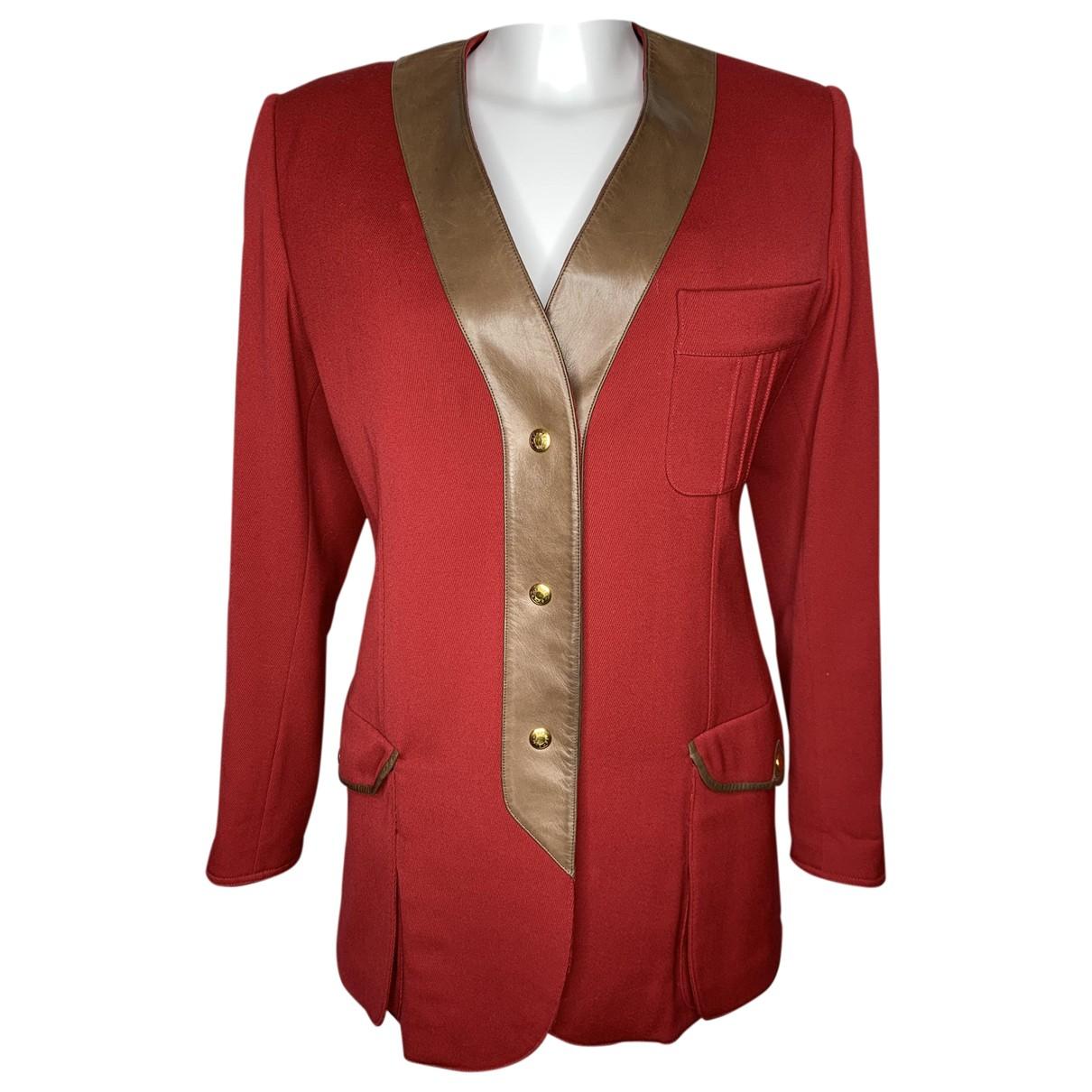 Hermès \N Red Wool jacket for Women 38 FR
