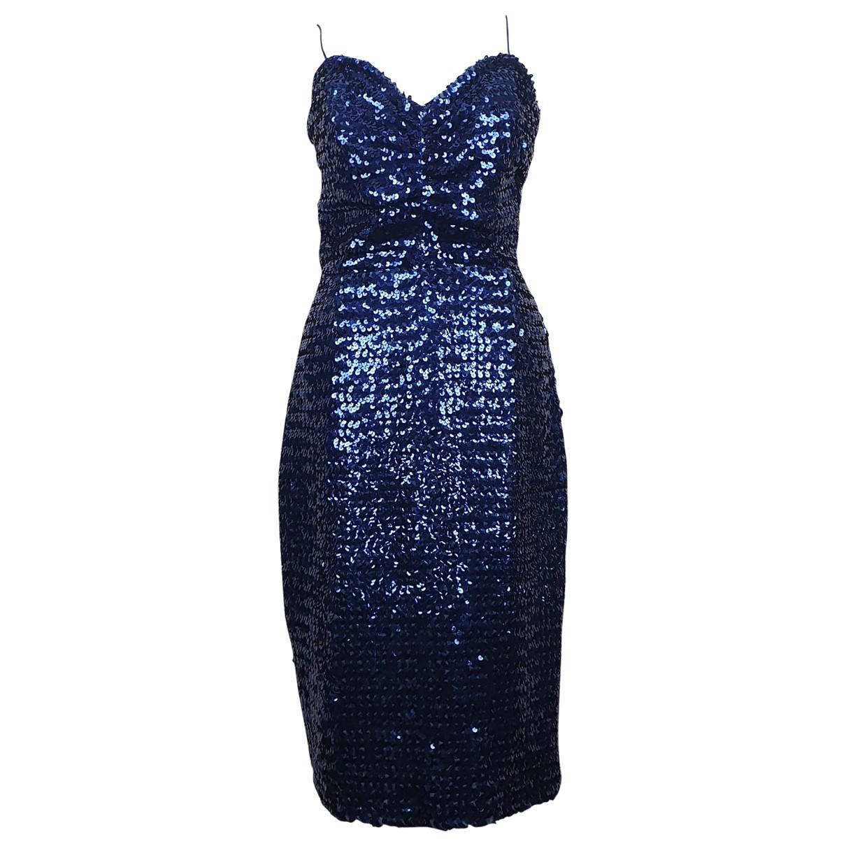 Pierre Cardin - Robe   pour femme en a paillettes - bleu