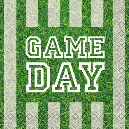 Game Day Football Beverage Napkins, 16ct