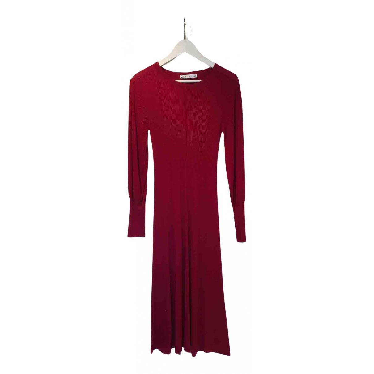 Zara \N Burgundy Cotton - elasthane dress for Women S International