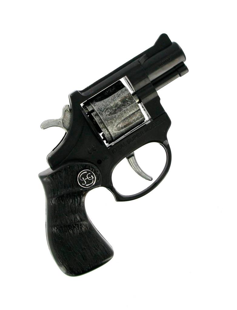 Kostuemzubehor Pistole R8 8-Schuss Farbe: schwarz