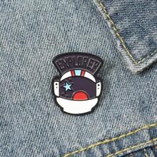 Astronaut Helmet Design Brooch