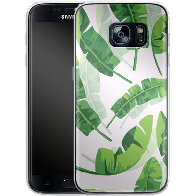 Samsung Galaxy S7 Silikon Handyhuelle - Banana Leaf von Mukta Lata Barua
