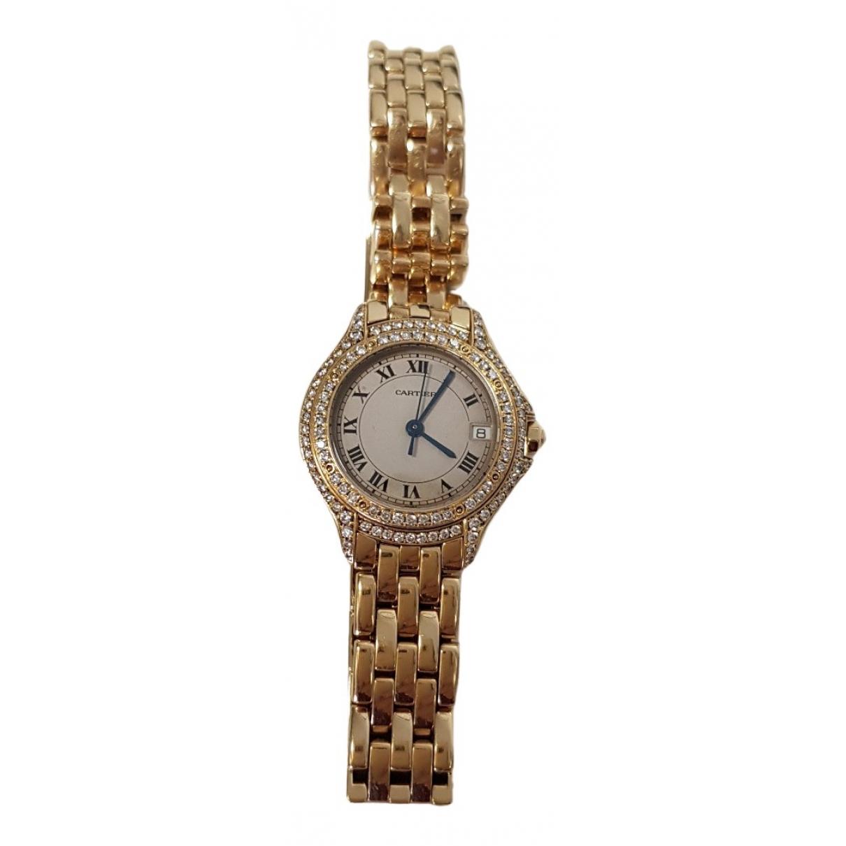 Cartier Cougar Uhr in  Gold Gelbgold