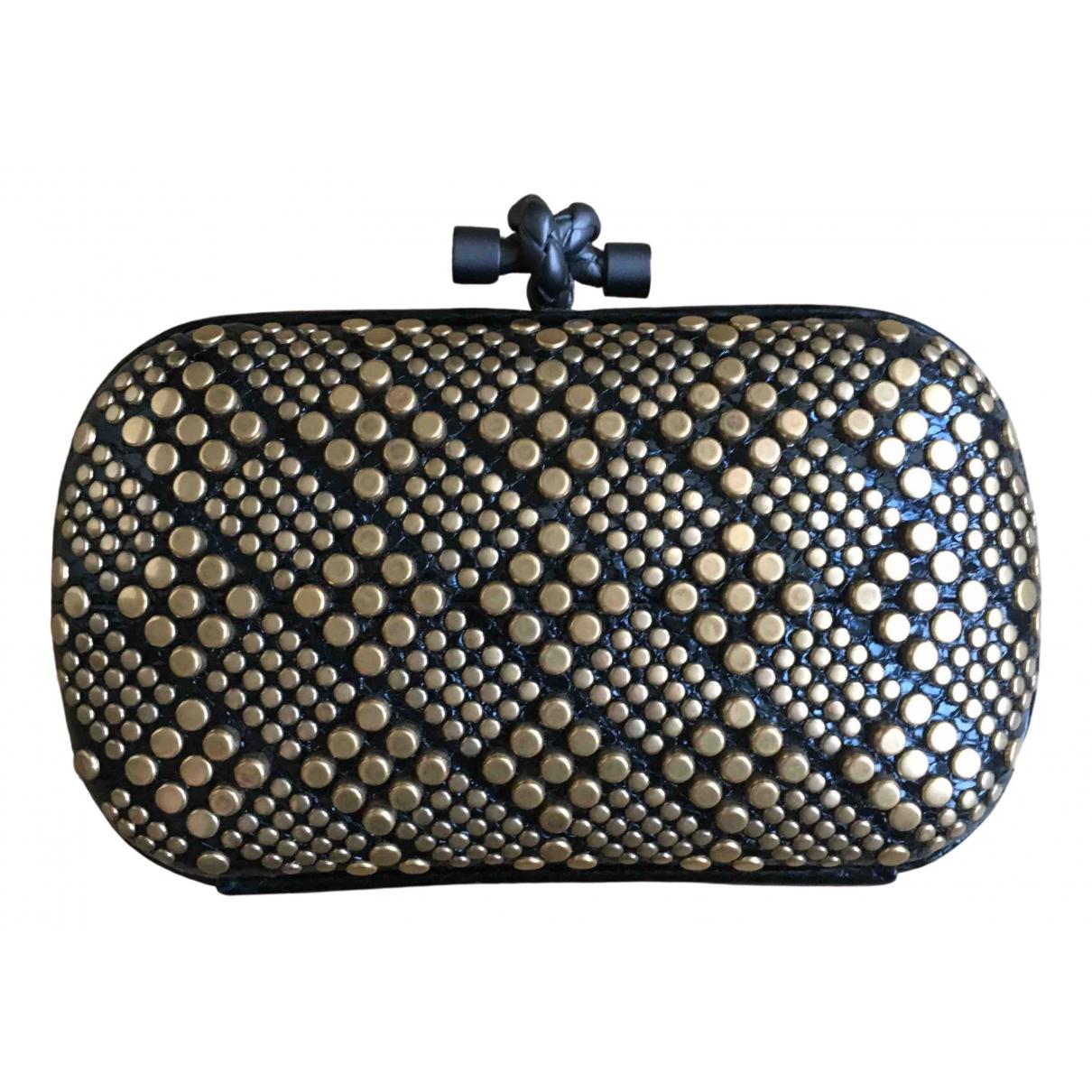 Bottega Veneta Pochette Knot Metallic Metal Clutch bag for Women \N