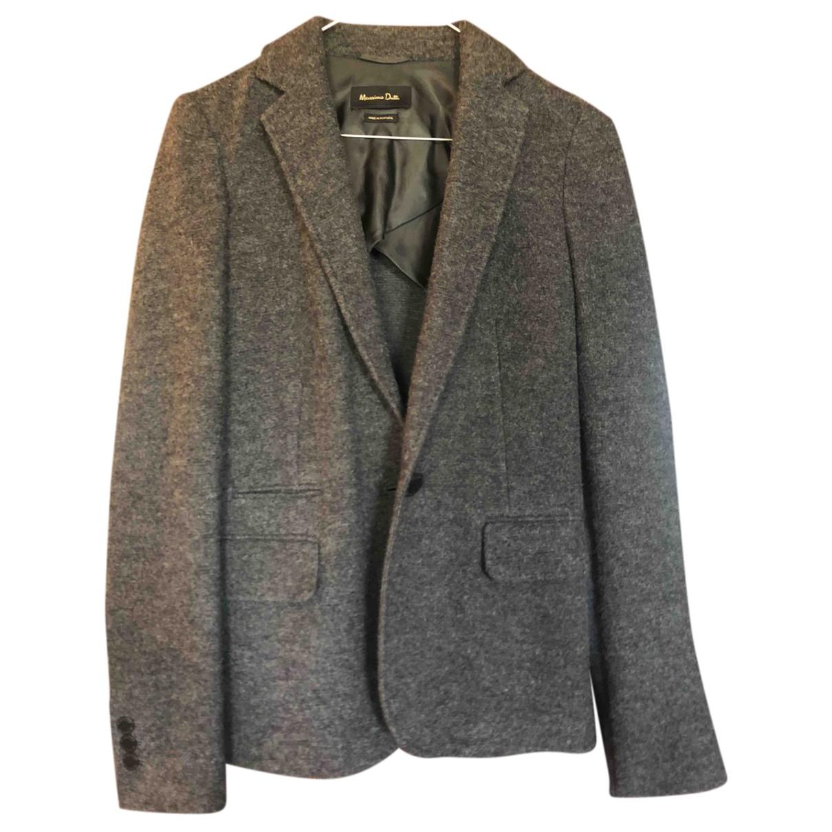 Massimo Dutti N Grey Wool jacket for Women 36 FR