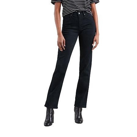 Levi's 724 High Rise Straight Jeans, 33 , Black