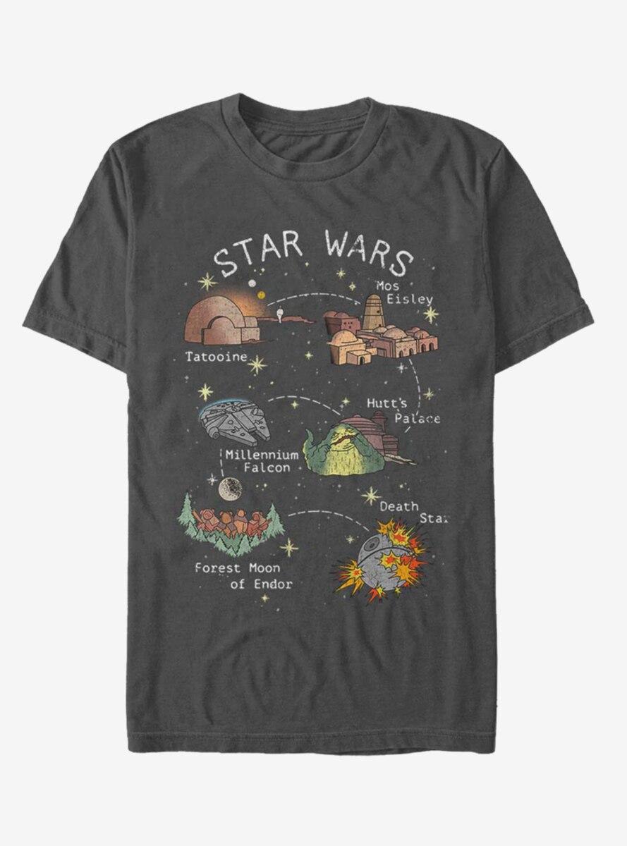 Star Wars Story Map T-Shirt
