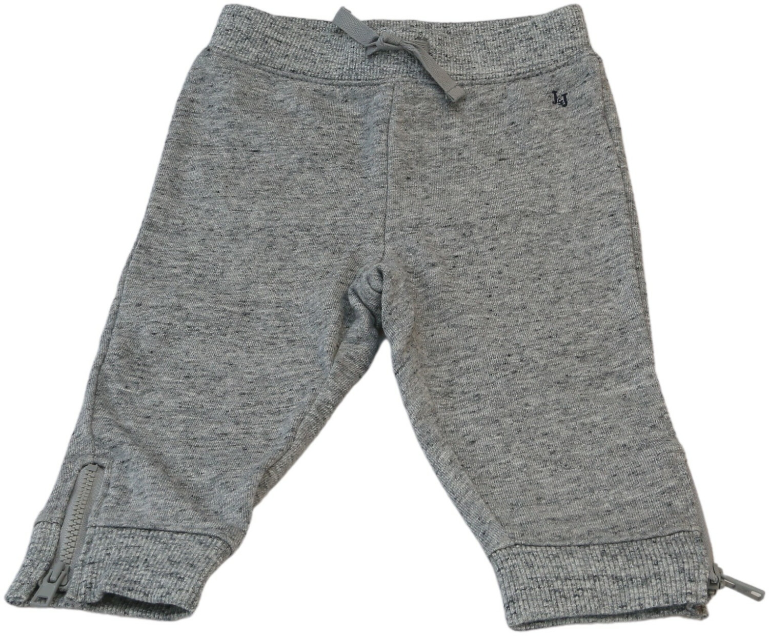 Janie And Jack Boy's Grey Zip Cuff Jogger Pants - 6-12 Months