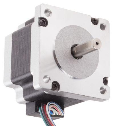 RS PRO Parallel, Series, Unipolar Hybrid, Permanent Magnet Stepper Motor 1.8°, 0.78Nm, 2.1 V, 3 V, 4.2 V, 2 A, 8 Wires