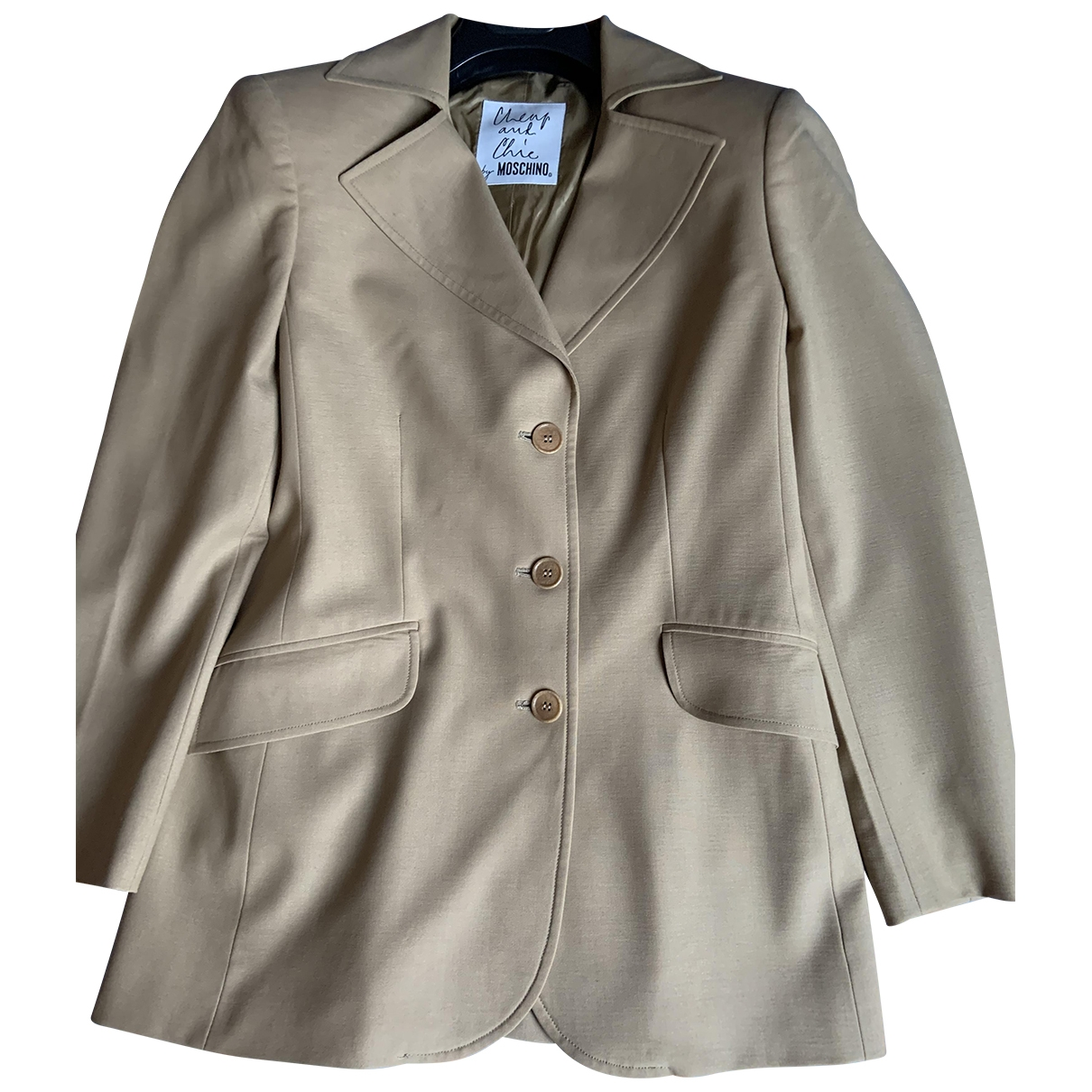 Moschino Cheap And Chic \N Beige Silk jacket for Women S International