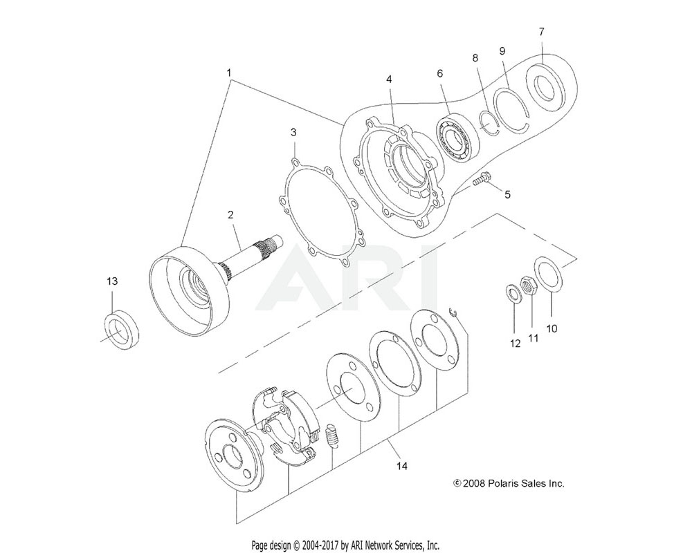 Polaris OEM 3089875 Clutch, One Way