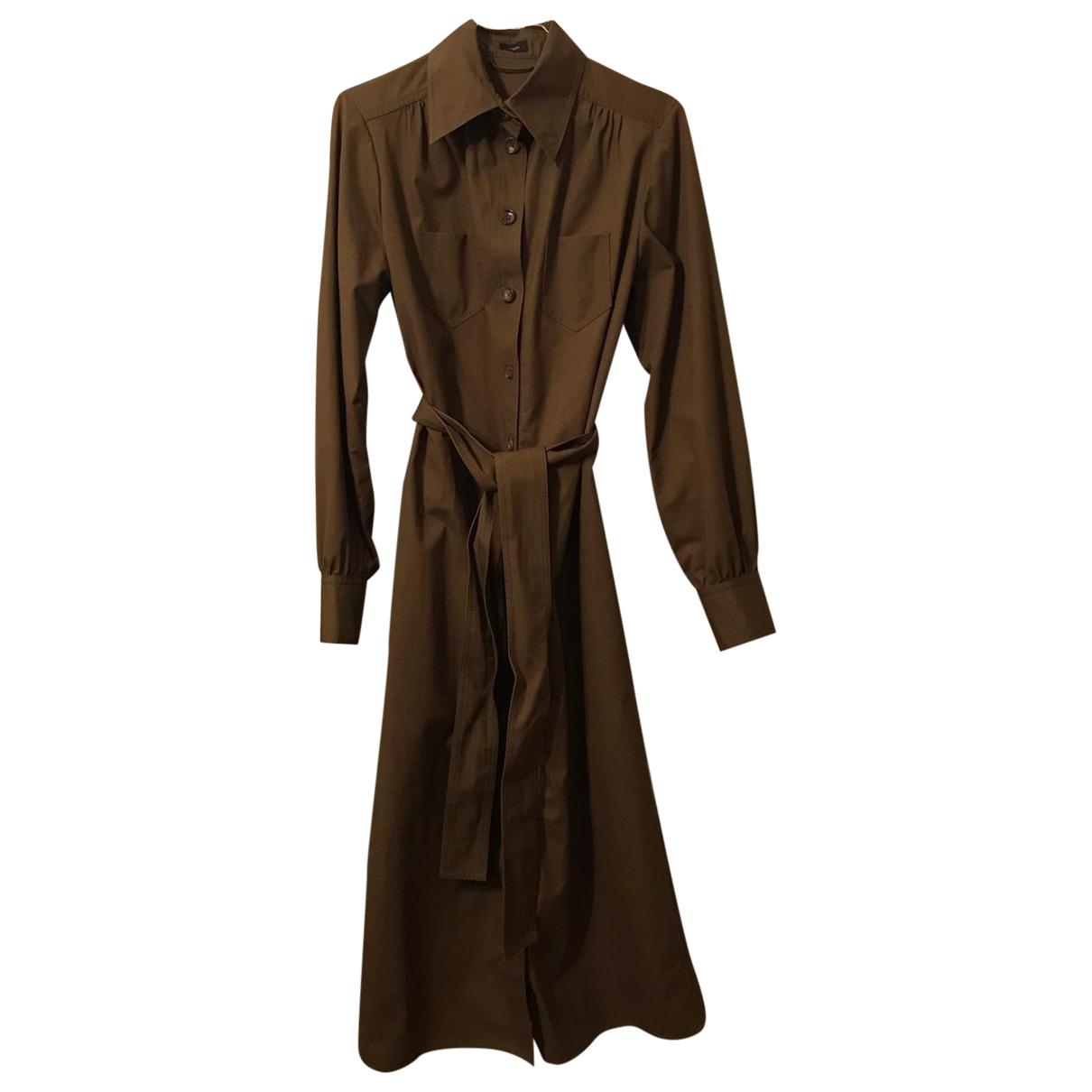 Joseph \N Khaki Cotton dress for Women 36 FR