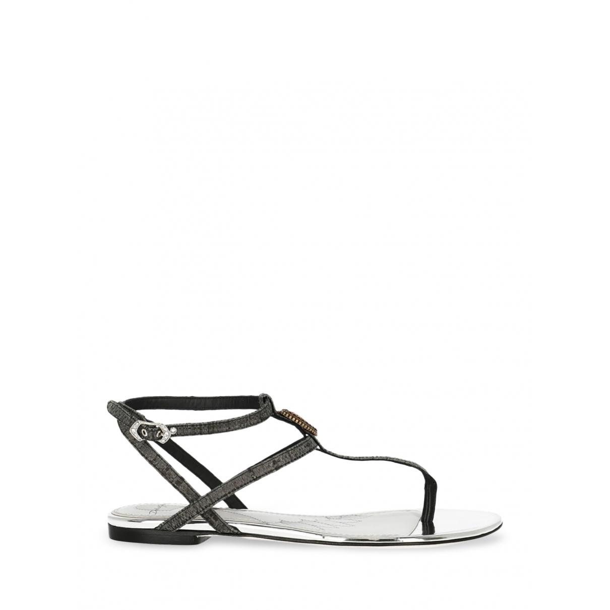 Dolce & Gabbana - Sandales   pour femme en cuir - gris