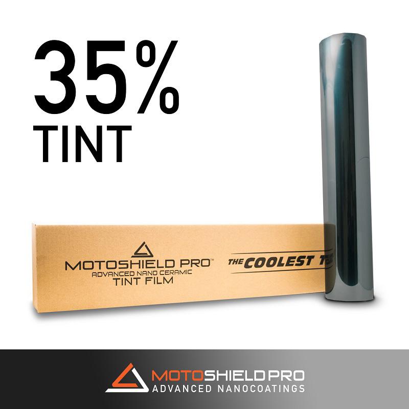 Window Tint 35 Percent Shade 100 Percent IRR 100 Percent UV 20 Inch x 100 FT Roll Nano Ceramic 2 mm MotoShield Pro