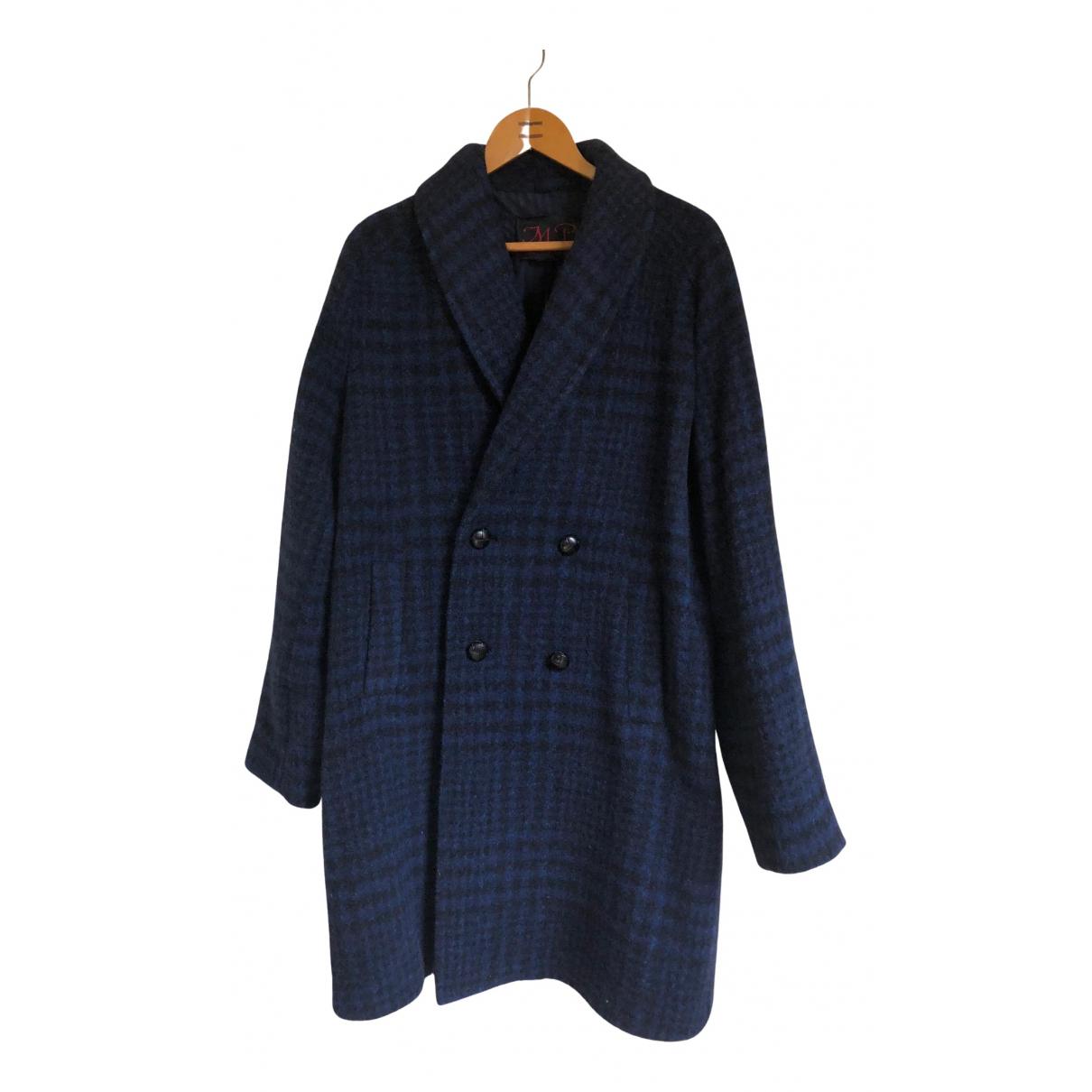 Massimo Piombo - Manteau   pour homme en laine - marine