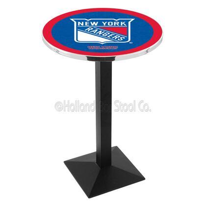 L217B42NYRang 42 Black Wrinkle New York Rangers Logo Pub