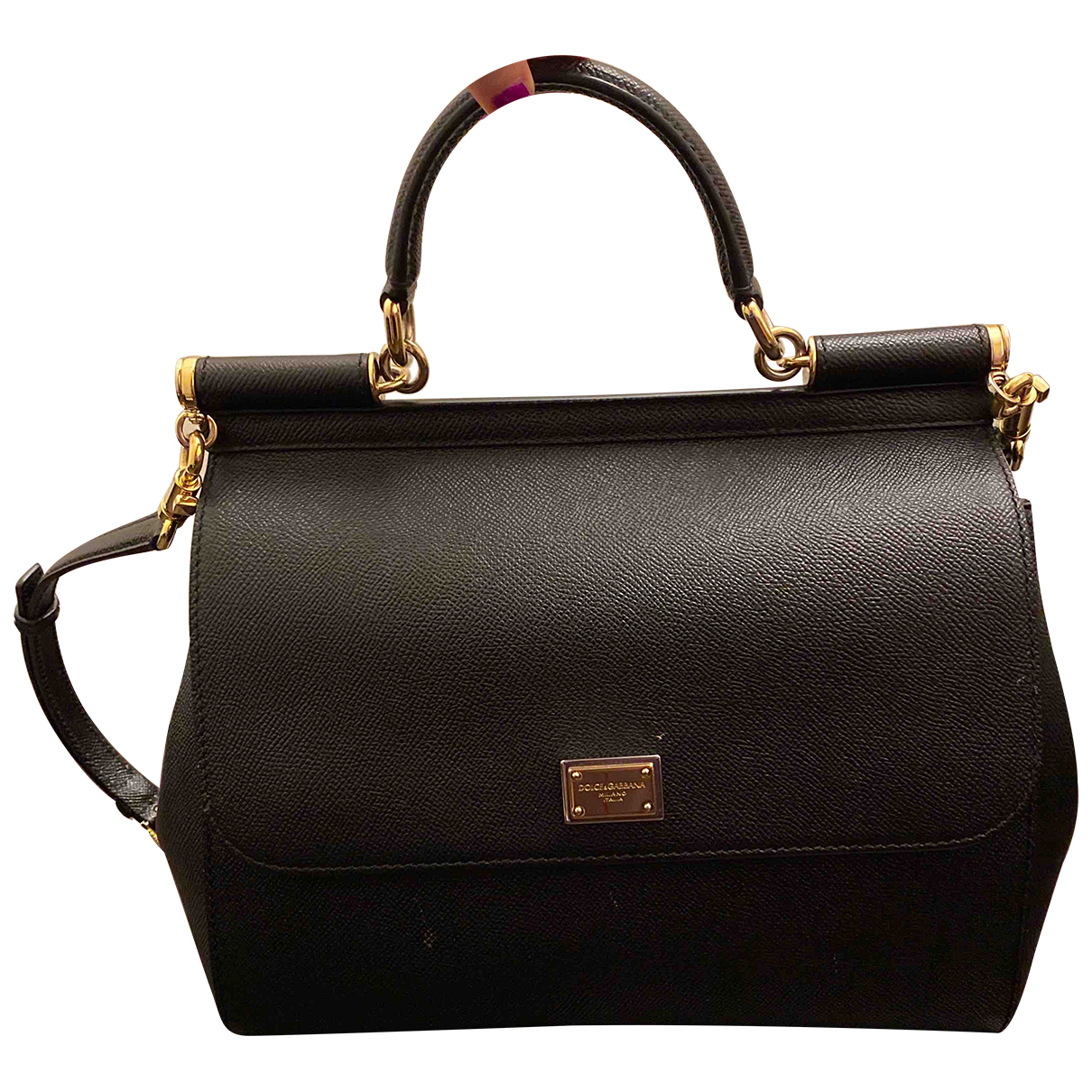 Dolce & Gabbana Sicily Black Leather handbag for Women N