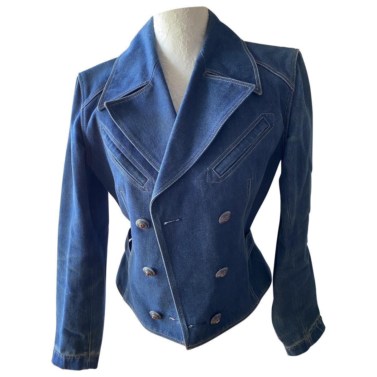 Alaia - Veste   pour femme en denim - bleu