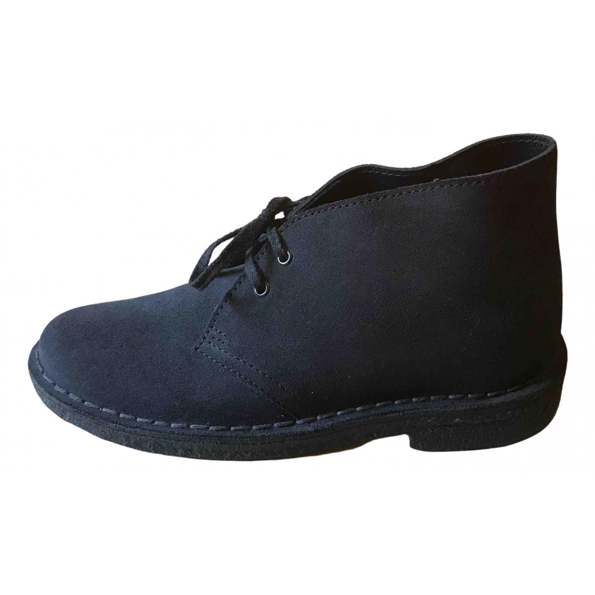 Clarks - Boots   pour femme en suede - bleu