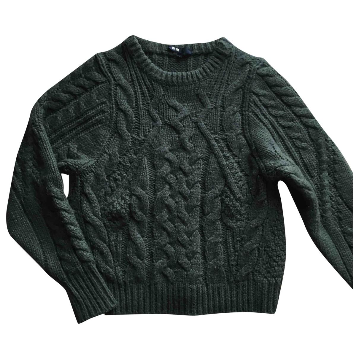 Maje Fall Winter 2019 Khaki Wool Knitwear for Women 36 FR
